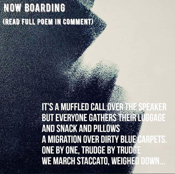 Now Boarding poem
